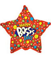 "18"" Happy Boss&#39s Day Smiley Star"