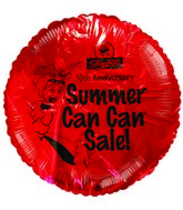 "18"" ShopRite 10th Anniversary Summer Sale Red Balloon"