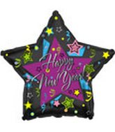 "18"" ""Happy New Year"" Graphic Star"