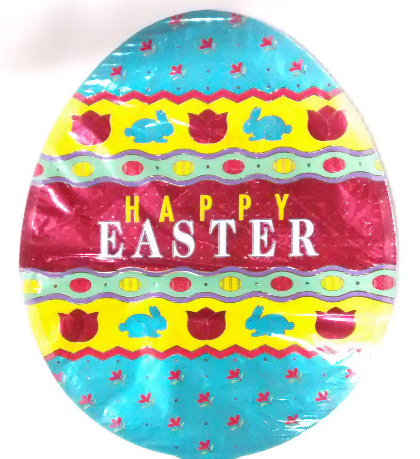 "14"" Easter Patterns Egg Shaped Airfill-Only Balloon"
