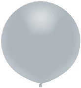 "17"" Outdoor Display Balloons (72 Count) Shinning Platinum"