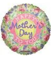 "9"" Airfill Mother&#39s Day Poppies Balloon"