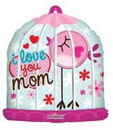 "28"" I Love You Mom Birdhouse Balloon"