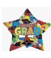 "36"" Star Balloon Diploma Caps"