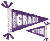 "31"" Purple Pennant Balloon (Slight Damaged Print)"