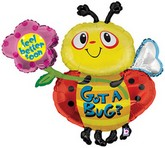 "38"" Got A Bug Get Well Bee Mylar Balloon (Damaged Print)"