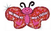 "42"" You Make My Heart Flutter Holographic Butterfly"