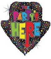 "30"" Holographic The Party&#39s Here Arrow"