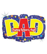 "30"" Happy Father&#39s Day DAD Banner Balloon"