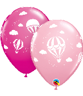 "11"" Hot Air Balloons (50 Per Bag) Latex Balloons"