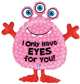 "34"" Monster Eyes For You Balloon"