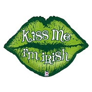 "30"" Kiss Me I&#39m Irish Lips"