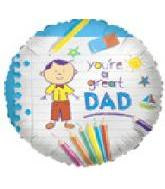 "9"" Airfill Great Dad Drawing"