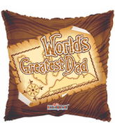 "18"" World&#39s Greatest Dad Map Balloon"