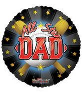 "36"" Most Valuable Dad Baseball Balloon"