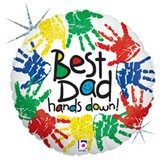 "18"" Best Dad Hands Down"