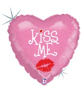 "18"" Holographic Balloon Kiss Me - Smooch"