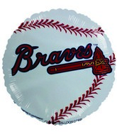 "9""  Airfill Atlanta Braves Balloon"