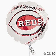 "9"" Airfill Cincinnati Reds Logo Football Balloon"