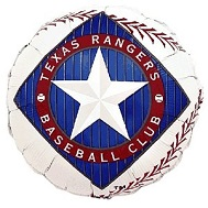 "9""  Airfill Baseball Texas Rangers Balloon"