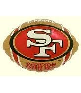 "9"" Airfill Forty Niners Football Shape"
