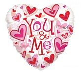 "18"" You And Me Forever Clearly Mylar Balloon"