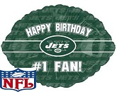 "18"" Happy Birthday #1 Fan NY Jets"