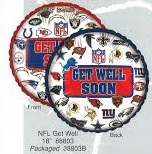 "18"" NFL Get Well Soon Baloons"
