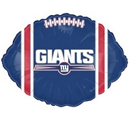 "9"" Airfill Only NFL Balloon New York Giants"