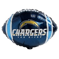 "9"" Airfill Only NFL Balloon San Diego Chargers"