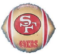 "9"" Airfill Only NFL Balloon San Francisco 49ers"