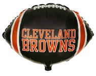 "9"" Airfill Only NFL Balloon Cleveland Browns"