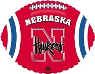"18"" Collegiate Football Nebraska Huskers"