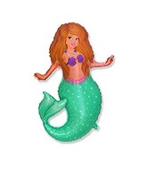 "24"" Pretty Mermaid Sparkling scales shaped Balloon"