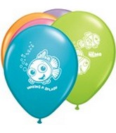 "11"" Assorted Latex Balloons Finding Nemo"