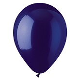 "12"" Crystal Navy Blue Latex (100 Per Bag)"