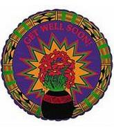 "18"" Get Well Soon Orange Flowers"