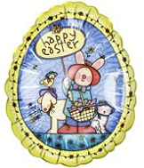 18&#39&#39 Happy Easter Country Bunny Balloon
