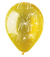 "12"" Fireworks Crystal Yellow Latex 50Count"