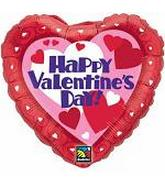 "18"" Happy Valentine&#39s Day Fun Hearts"