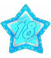 "21"" Happy 18th Birthday Blue Star"