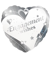 "18"" Engagement Wishes Silver"