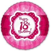 "18"" Happy Birthday 18th Pink Balloons"