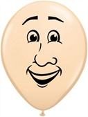 "5"" Round Latex Man's Face Balloon (100 Count)"