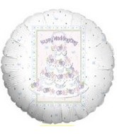 "18"" Happy Wedding Day Cake Balloon"