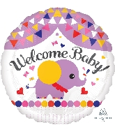 "18"" Welcome Baby Streamers Balloon"