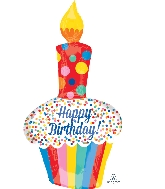 "41"" Jumbo Bright Birthday Cupcake Balloon"