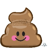 "25"" Jumbo Emoticon Poop Balloon"