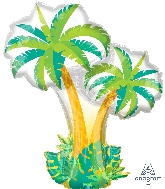 "34"" SuperShape Tropical Palm Trees Balloon"
