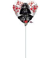 "9"" Airfill Only Star Wars Love Balloon WITHOUT STICK"